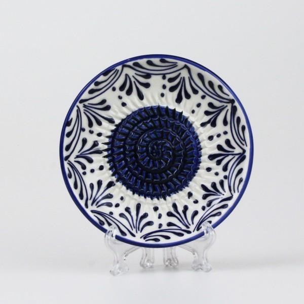Keramik Reibe in weiß & blau