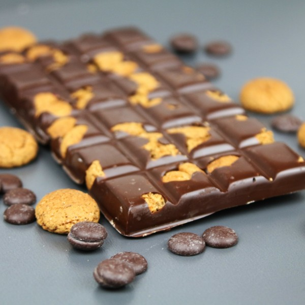 Zartbitterschokolade mit Spekulatius