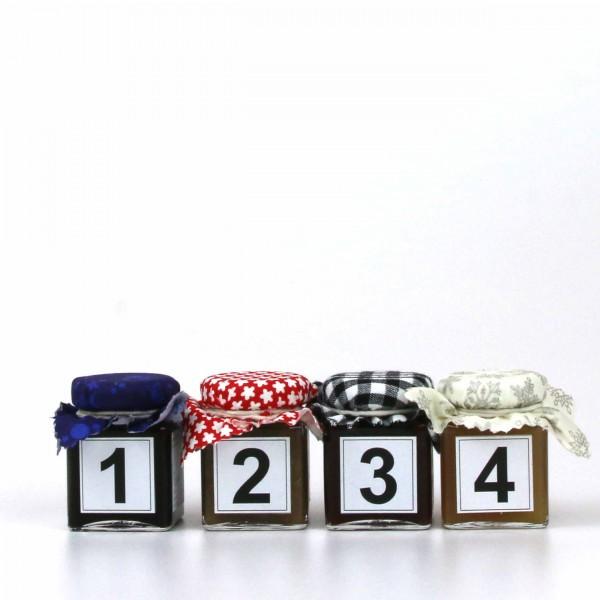 Essbarer Adventskalender 1234 Mini