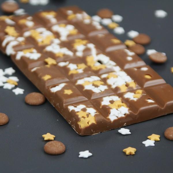 Vollmilchschokolade mit Zuckersternchen
