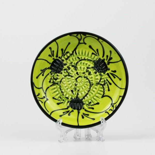 Keramik Reibe in leuchtendem grün & schwarz