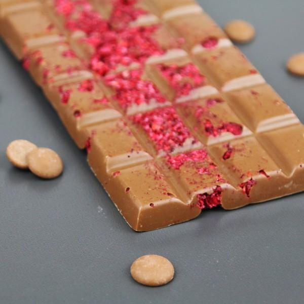 Vollmilchschokolade mit Himbeere
