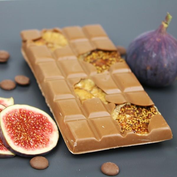 Vollmilchschokolade mit Feigen