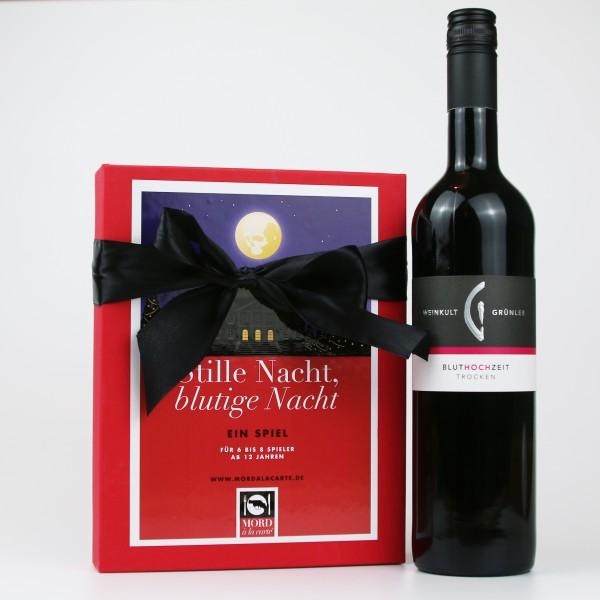 """Mörderisches Geschenkeset """"Spiel & Wein"""""""