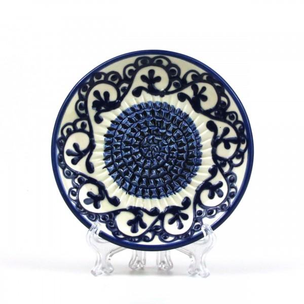 Keramik Reibe in blau & weiß