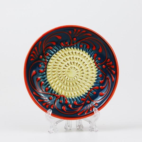 Keramik Reibe in türkis & orange