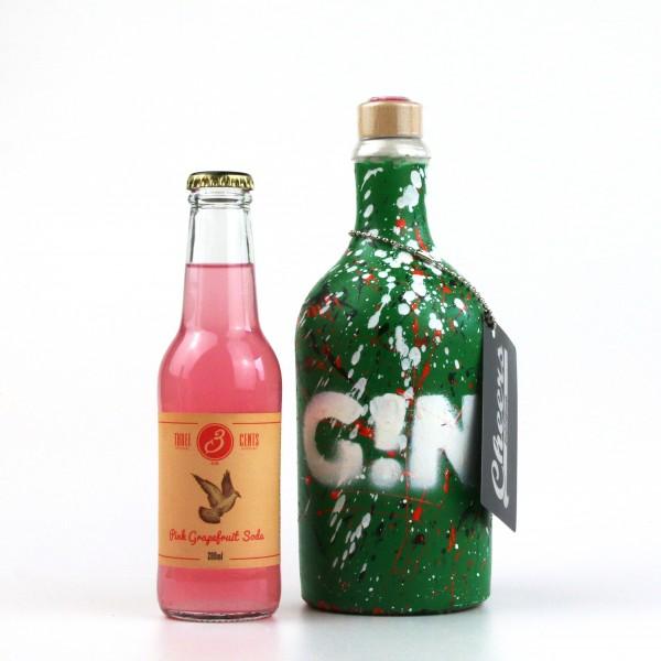 FRENKEL´ S G!N 0,5 L GRÜN weiß orange Gin
